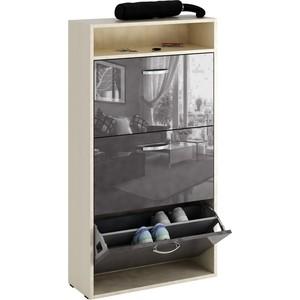 Обувница Мастер Милан-26 глянец (дуб молочный - серый) МСТ-ОДМ-26-МС-ГЛ