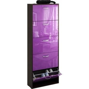 Обувница Мастер Милан-28 глянец (венге - фиолетовый) МСТ-ОДМ-28-ВФ-ГЛ