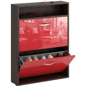 Обувница Мастер Милан-25 глянец узкая (венге - красный) МСТ-ОДМ-25-ВР-ГЛ-УЗ стоимость