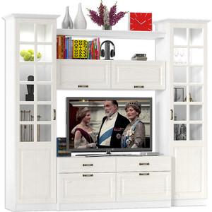 Гостиная Моби Ливерпуль набор мебели 1 ясень ваниль/белый