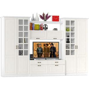 Гостиная Моби Ливерпуль набор мебели 3 ясень ваниль/белый