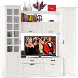 Гостиная Моби Ливерпуль набор мебели 6 ясень ваниль/белый