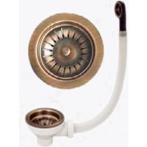 Сифон для кухонной мойки Florentina Выпуск 1 D90 с переливом, античная латунь (670-F-PIRITE)