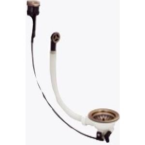 Сифон для кухонной мойки Florentina Выпуск 1 D90 с переливом и клапан-автоматом, античная латунь (2670-F-PIRITE)