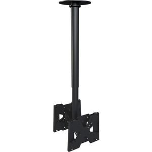 Кронштейн потолочный Allegri П-2/30 (2 ТВ), 300-400 мм, черный шагрень