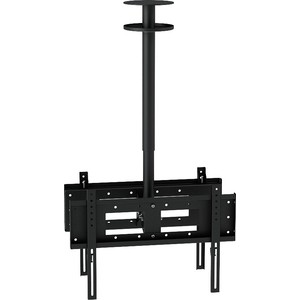 Кронштейн потолочный Allegri П-2/65 (2 ТВ), 500-600 мм, черный шагрень
