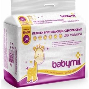Пеленки впитывающие BABYMIL 60*90 см Оптима 30шт 4627104-430777