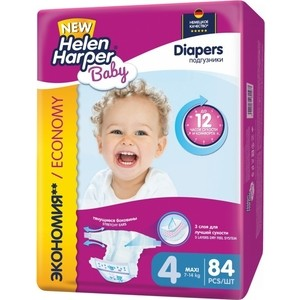 Подгузники Helen Harper Baby размер 4 Maxi (7-14 кг) 84 шт 5411416-031567