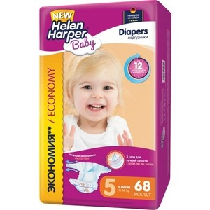 Подгузники Helen Harper Baby размер 5 Junior (11-18 кг) 68шт 5411416-031581