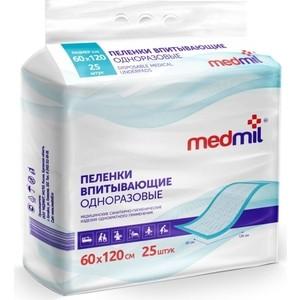 Пеленки впитывающие MEDMIL 60*120 см Оптима 25шт 4627104-431705