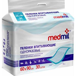 Пеленки впитывающие MEDMIL 60*90 см Оптима 30шт 4627104-431415
