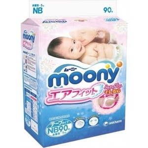 Подгузники Moony NB (до 5 кг) 90 шт 4903111-243785