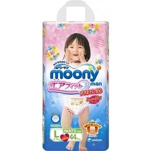 Трусики для девочек Moony MAN L (9-14 кг) 44 шт 4903111-184521
