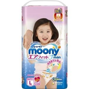 Трусики для девочек Moony MAN L (9-14 кг) 44 шт NEW 4903111-273409