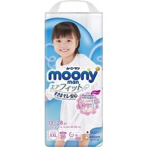 Трусики для девочек Moony MAN XXL (13-28 кг) 26 шт NEW 4903111-236527
