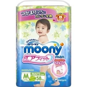 Трусики универсальные Moony MAN M (6-11 кг) 58 шт 4903111-184293