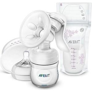 Молокоотсос ручной Avent Philips Comfort с принадлежностями (с пакетами для грудного молока)
