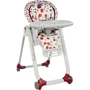 Съемный настил для стульчика Chicco Polly Progres5 расцветка Cherry