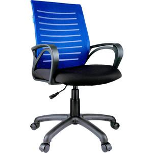 Кресло оператора Helmi HL-M16 Vivid ткань S черная/ TW синяя