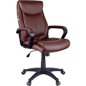 Кресло руководителя Helmi HL-E02 Income экокожа коричневая
