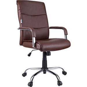 Кресло руководителя Helmi HL-E03 Accept экокожа коричневая