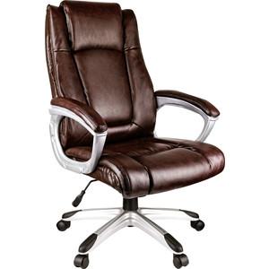 Кресло руководителя Helmi HL-E09 Capital экокожа коричневая
