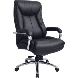 Кресло руководителя Helmi HL-E12 Congress кожа черная мультиблок хром