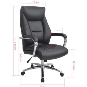 Кресло руководителя Helmi HL-E13 Summit рециклированная кожа черная хром