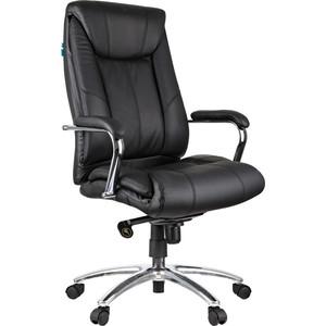 Кресло руководителя Helmi HL-E15 Convention кожа черная мультиблок хром