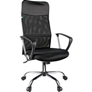 Кресло руководителя Helmi HL-E16 Content ткань/сетка/экокожа черная хром
