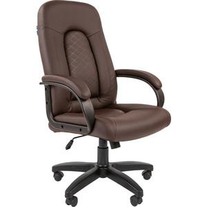 Кресло руководителя Helmi HL-E29 Brilliance экокожа коричневая мягкий подлокотник