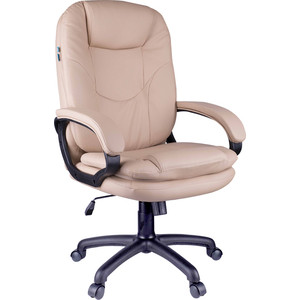 Кресло руководителя Helmi HL-E68 Reputation экокожа бежевая мягкий подлокотник