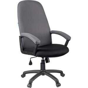 Кресло руководителя Helmi HL-E79 Elegant ткань TW черная/серая