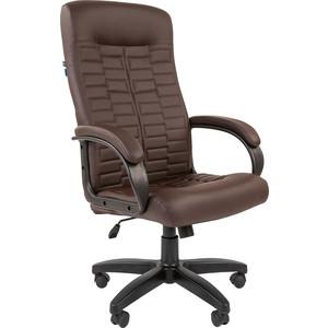 Кресло руководителя Helmi HL-E80 Ornament экокожа коричневая мягкий подлокотник