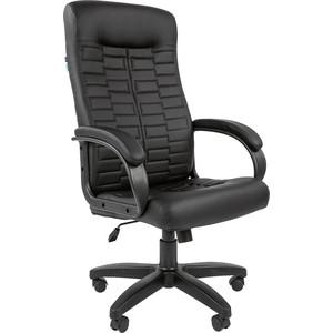 Кресло руководителя Helmi HL-E80 Ornament экокожа черная мягкий подлокотник
