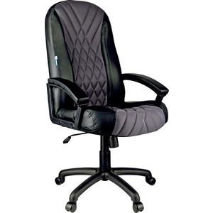 цена Кресло руководителя Helmi HL-E85 Graphite ткань TW серая экокожа черная мягкий подлокотник онлайн в 2017 году
