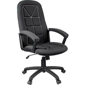Кресло руководителя Helmi HL-E89 Blocks ткань S черная мягкий подлокотник