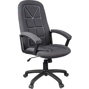 Кресло руководителя Helmi HL-E89 Blocks ткань S серая мягкий подлокотник