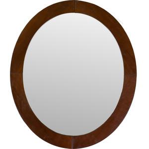 купить Зеркало навесное Мебелик Берже 24 темно-коричневый по цене 3630 рублей