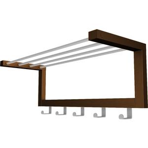 цена Вешалка настенная Мебелик Дольче темно-коричневый/металлик онлайн в 2017 году