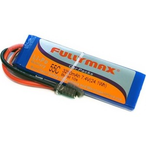 Аккумулятор Fullymax LiPo 7.4V 2S 55C 3250mAh - FB3300-55C-7.4V-WB