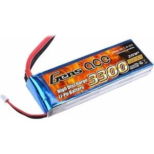 Аккумулятор Gens Li-Po - 7.4В 3300мАч 60C (2S1Р) T-PLUG- B-60C-3300-2S1P T-PLUG цены