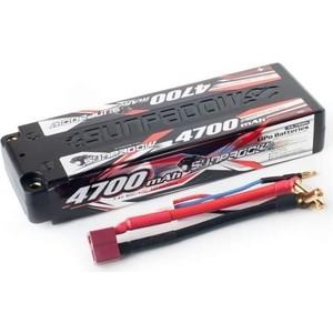 Аккумулятор Sunpadow Li-Po 2S1P 4700mAh 40C 60C T-Plug (Deans) Hardcase - SP-4700-2-40C-S-D
