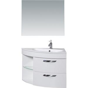 Мебель для ванной De Aqua Трио Люкс 90 R Grass белая