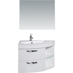Мебель для ванной De Aqua Трио Люкс 90 L Grass белая