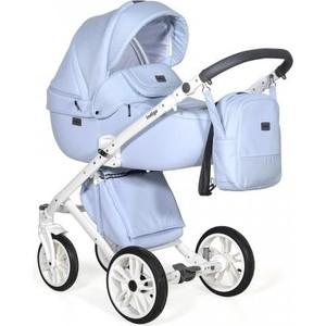 Коляска 2 в 1 Indigo PRIMA Po 01 (голубая кожа-голубой лен) коляска 2 в 1 tutis mimi style кофейный лен