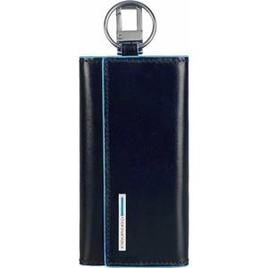 Ключница Piquadro Blue Square, синяя, PC1397B2/BLU2