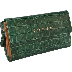 Кошелек Cross Bebe Coco, кожа наппа, зеленый/рыжий, AC578302-4