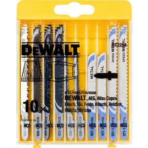 Набор пилок для лобзика DeWALT 10шт HCS/HSS (DT 2294)