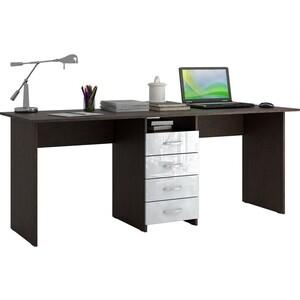 Стол письменный Мастер Тандем-2 глянец (венге-белый) МСТ-СДТ-02-ВБ-ГЛ